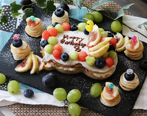 ホットケーキミックス バースデーケーキ